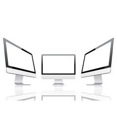 Computer monitors vector