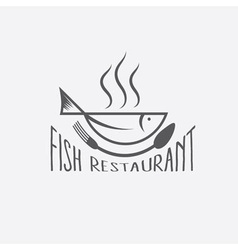 Fish in the form of bowlfish restaurant vector