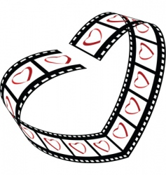 Love film strip vector