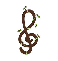 A treble clef vector