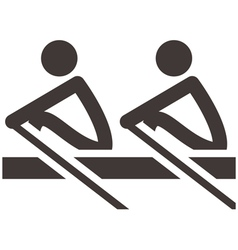 Rowing icon vector