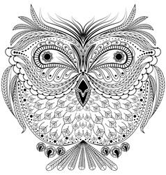 Monochrome abstract owl vector