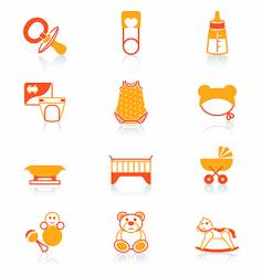 Baby icons  juicy series vector