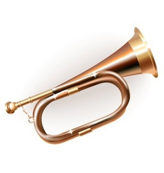 Traditional hunting horn vector