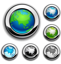 Earth buttons - eurasia vector