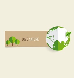Nature banner paper with green eco earth vector