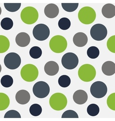 Pattern with green grey polka dots vector