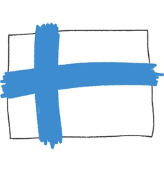 Flag of finland handmade vector