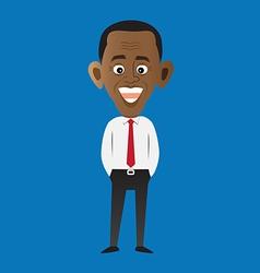 Cartoon style president obama vector