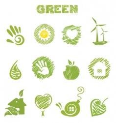 Green theme vector