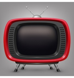 Retro red tv vector