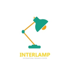 Reading-lamp logo vector
