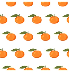 Cute seamless pattern with mandarins vector