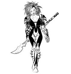 Science fiction warrior elf vector