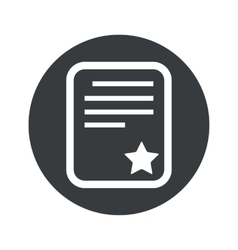 Monochrome round best document icon vector