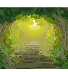 Magic landscape entrance vector