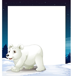 An empty template with a polar bear vector