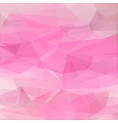 Polygon abstract texture in romantic pink colors vector