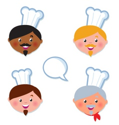 International cook chef icons vector