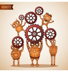 Teamwork concept with cogs and gears vector