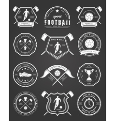 Set of football badge vector