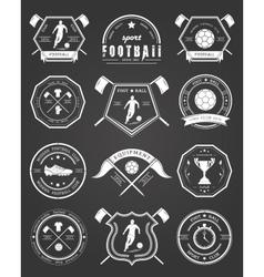 Set of football badge vector
