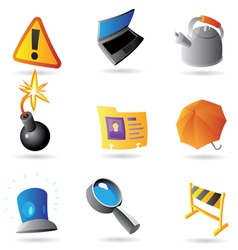 Icons for program interface vector