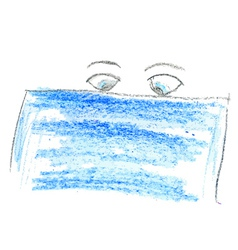 Cartoon eyes and banner vector