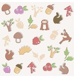 Woodland pattern vector