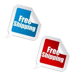 Free shipping sticker vector