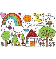 Childrens doodle vector