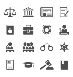 Set of law and justice icons vector