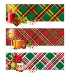 English christmas borders vector