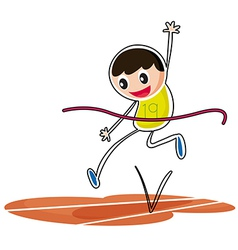 A kid jumping vector