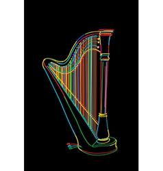 Harp sketch vector