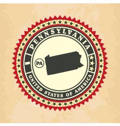 Vintage label-sticker cards of pennsylvania vector