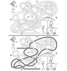 Ice cream maze vector