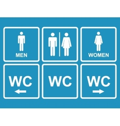 Male and female wc icon denoting toilet  restroom vector