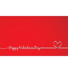 Happy valentines day -handmade calligraphy vector