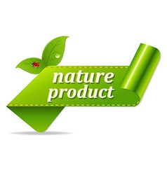 Organic green tags vector
