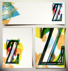 Artistic greeting card letter z vector