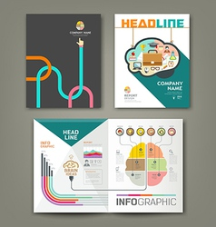 Annual report brain concepts infographic vector