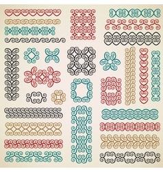 Border design elements set vector