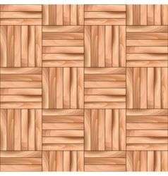 Oak cubical parquet wooden seamless pattern vector