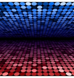 Abstract blue and red disco circles background vector