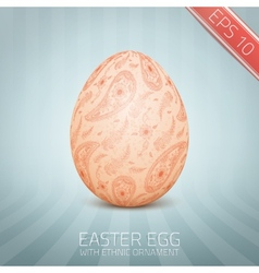 The easter egg with a floral pattern ornament vector