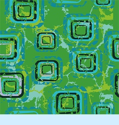 Abstract pattern with squares on a green vector