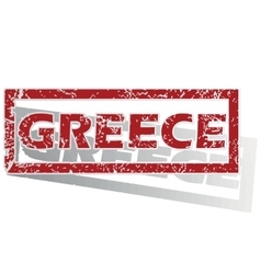 Greece outlined stamp vector