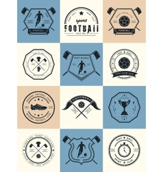Set of football badges logos and icons vector