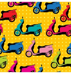 Comic style scooter pattern vector